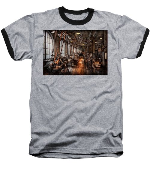 Machinist - A Fully Functioning Machine Shop  Baseball T-Shirt by Mike Savad