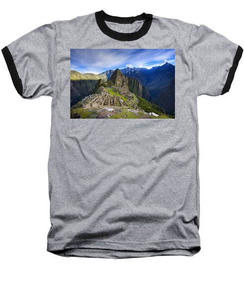Machu Picchu Baseball T-Shirt by Alexey Stiop