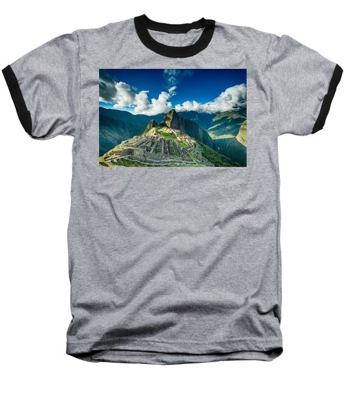Machu Picchu Baseball T-Shirt by Ulrich Schade