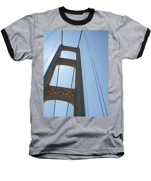 Mackinac Bridge Baseball T-Shirt
