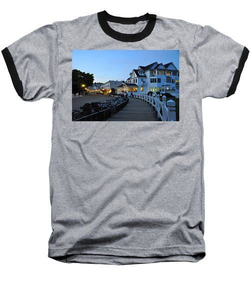 Mackinac Island At Dusk Baseball T-Shirt