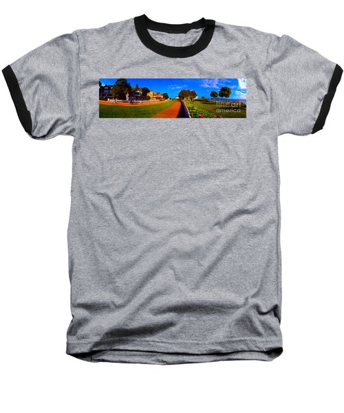 Mackinac Island Flower Garden  Baseball T-Shirt
