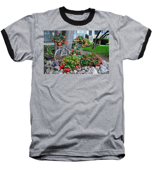 Mackinac Island Garden Baseball T-Shirt