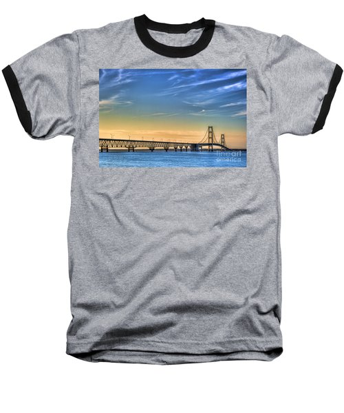 Mackinac Sunset Baseball T-Shirt