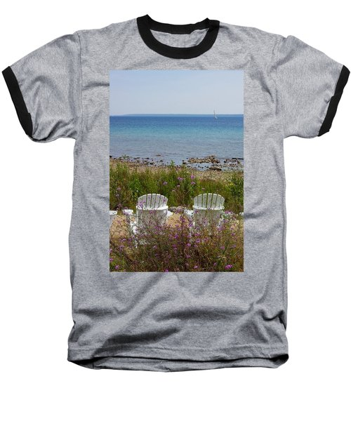 Mackinac View Baseball T-Shirt