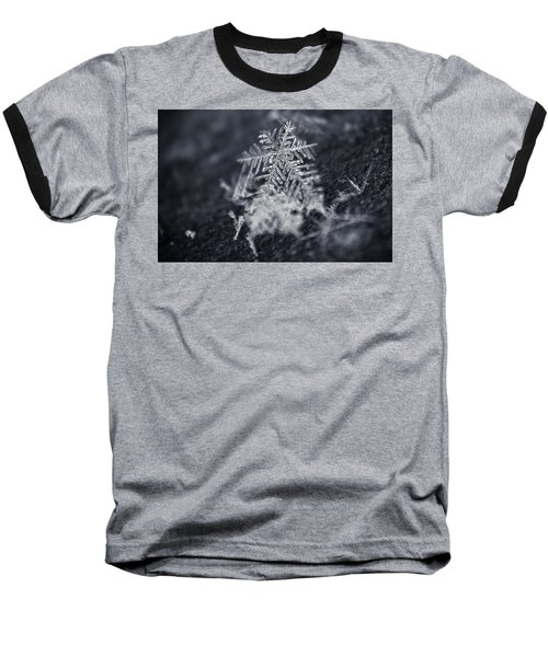 Macro Snowflake Baseball T-Shirt