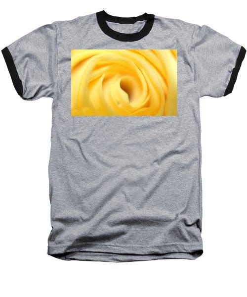 Macro Yellow Rose Baseball T-Shirt