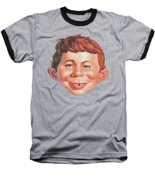 Mad - Alfred Head Baseball T-Shirt