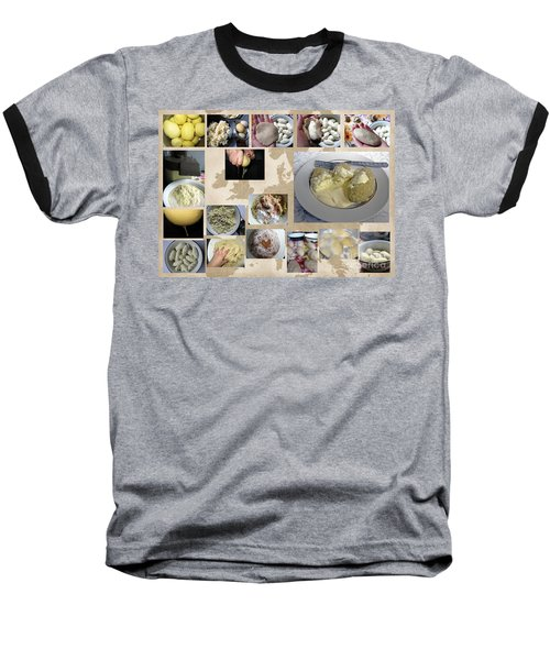 Baseball T-Shirt featuring the photograph Made In Lithuania... Cepelinai- Potato Dumplings by Ausra Huntington nee Paulauskaite