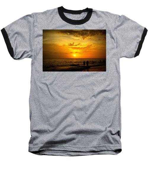 Baseball T-Shirt featuring the photograph Madeira Sunset by Laurie Perry