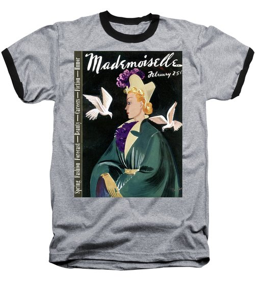 Mademoiselle Cover Featuring A Model In A Green Baseball T-Shirt