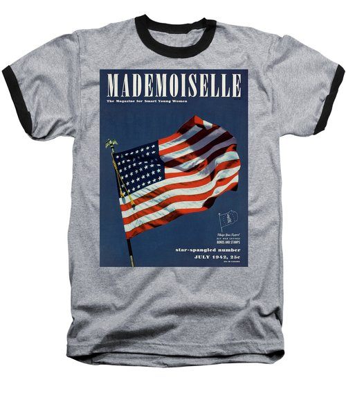 Mademoiselle Cover Featuring The U.s. Flag Baseball T-Shirt
