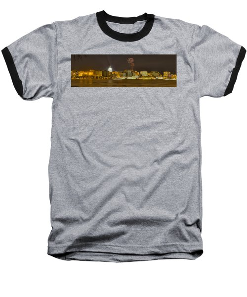 Madison Skyline New Years Eve Baseball T-Shirt