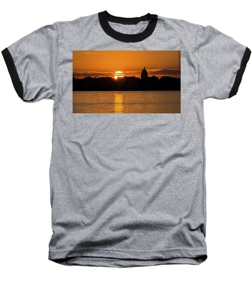 Madison Sunset Baseball T-Shirt by Steven Ralser