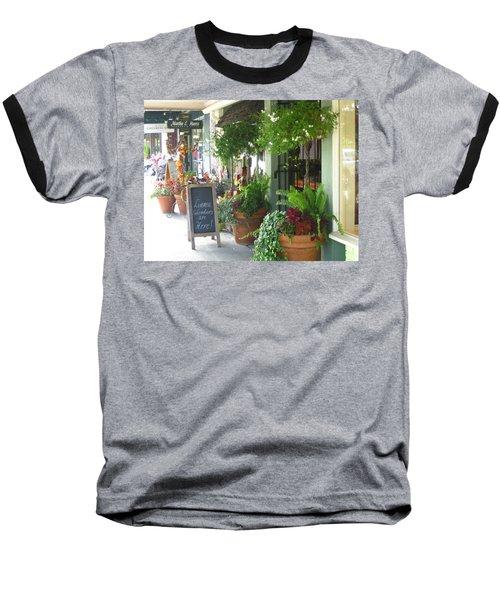 Madison Valley Street Scene 2 Baseball T-Shirt by David Trotter