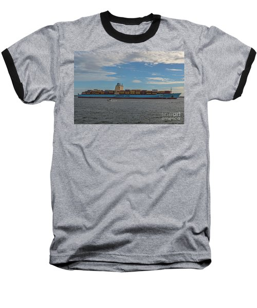 Ocean Going Freighter Baseball T-Shirt