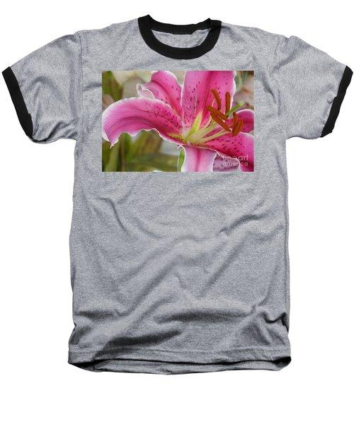 Magenta Tiger Lily Baseball T-Shirt
