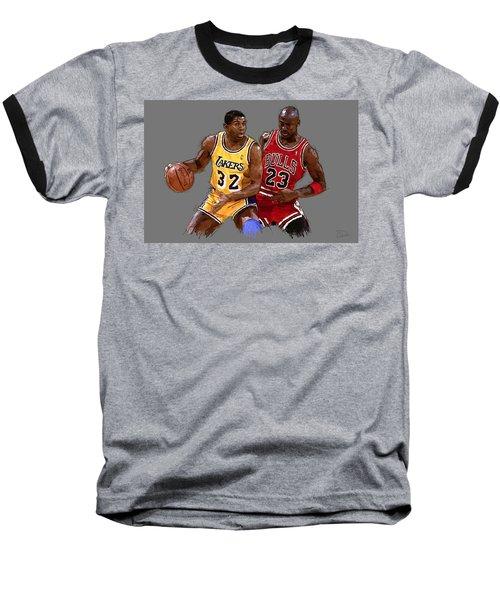 Magic And Michael Baseball T-Shirt
