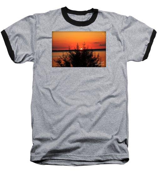 Magic At Sunset Baseball T-Shirt by Ella Kaye Dickey
