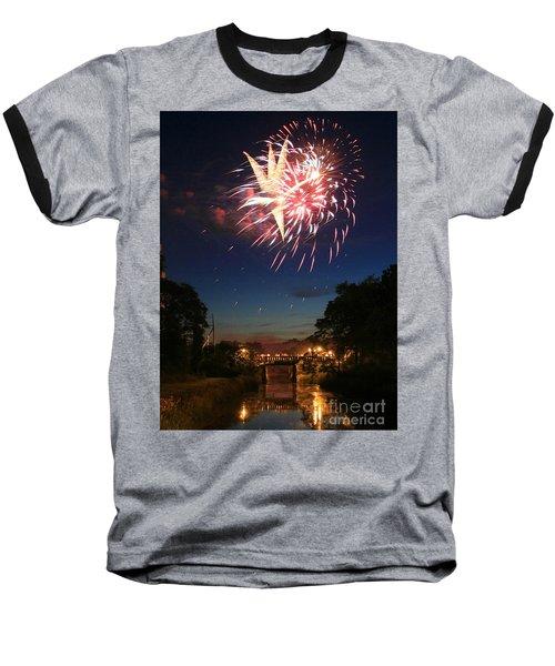 Baseball T-Shirt featuring the photograph Magic In The Sky by Paula Guttilla