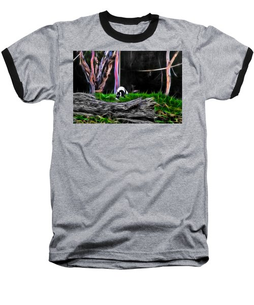 Walk In Magical Land Of The Black And White Ruffed Lemur Baseball T-Shirt
