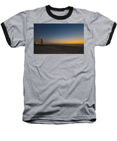 Baseball T-Shirt featuring the photograph magical sunset moments at Caesarea  by Ron Shoshani