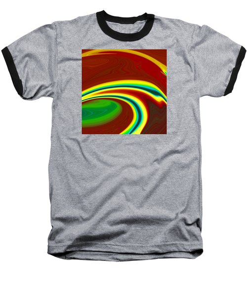 Baseball T-Shirt featuring the painting Magma  C2014 by Paul Ashby