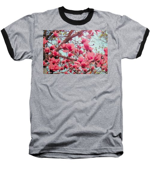 Magnolia Blossoms In Spring Baseball T-Shirt