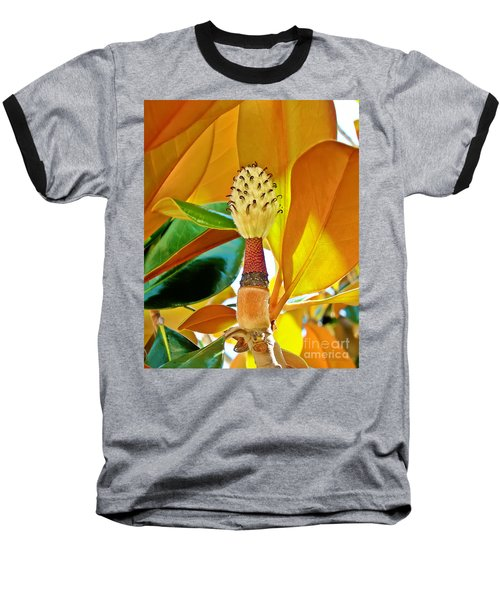 Baseball T-Shirt featuring the photograph Magnolia Flower by Olga Hamilton