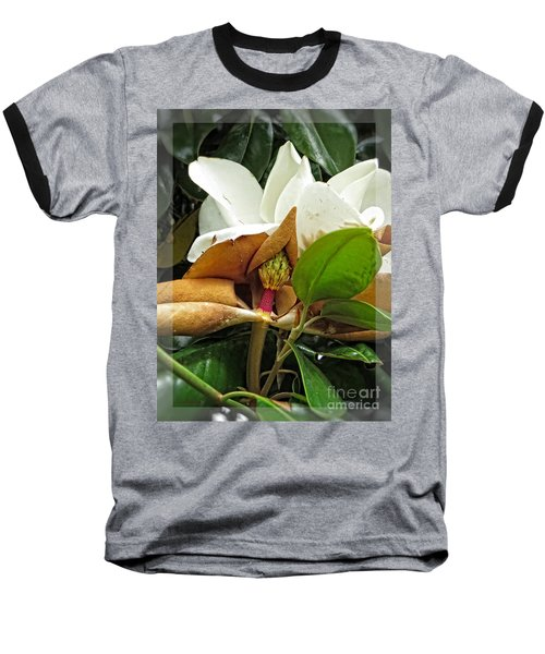 Baseball T-Shirt featuring the photograph Magnolia Flowers - Flower Of Perseverance by Ella Kaye Dickey