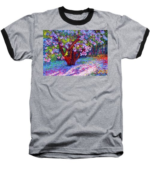 Magnolia Melody Baseball T-Shirt by Jane Small