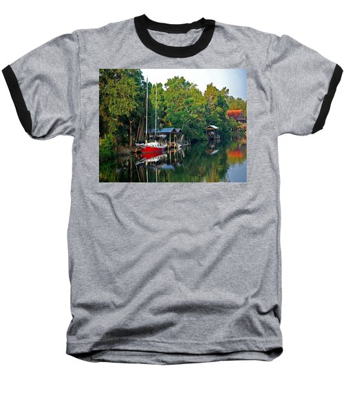 Magnolia Red Boat Baseball T-Shirt