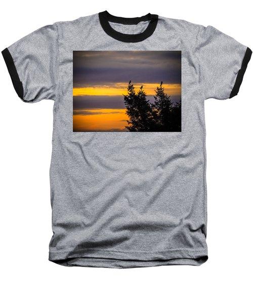 Magpies At Sunrise Baseball T-Shirt