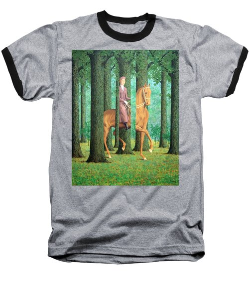Magritte's The Blank Signature Baseball T-Shirt