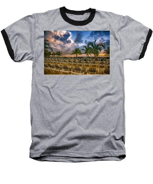 Mahogany Bay Beach-roatan-honduras Baseball T-Shirt