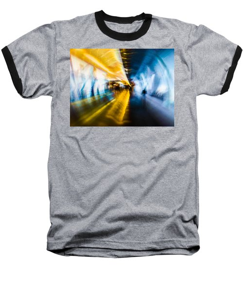 Baseball T-Shirt featuring the photograph Main Access Tunnel Nyryx Station by Alex Lapidus