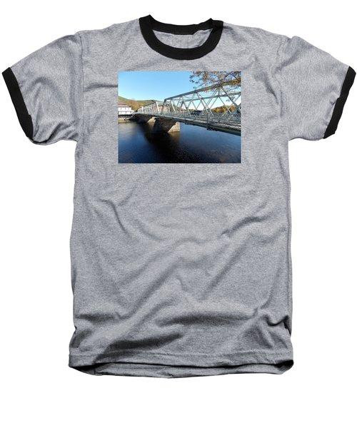 Main Street Bridge Shelbourne Falls  Baseball T-Shirt