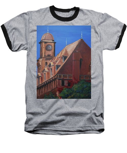 Baseball T-Shirt featuring the painting Main Street Station by Donna Tuten