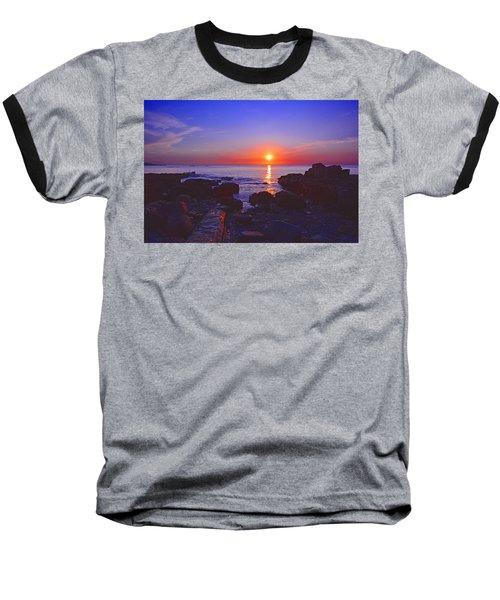 Maine Coast Sunrise Baseball T-Shirt