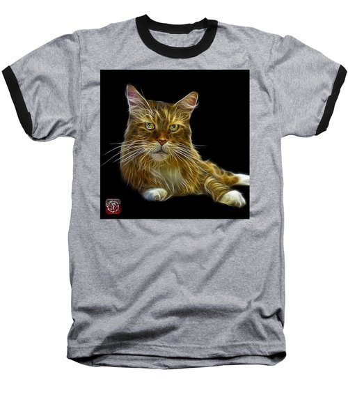Maine Coon Cat - 3926 - Bb Baseball T-Shirt