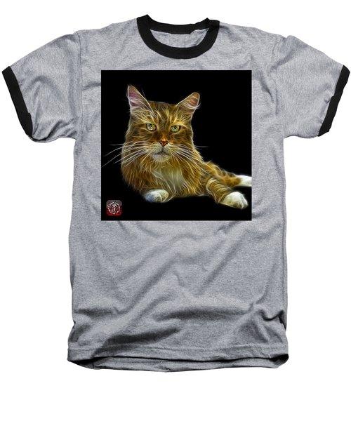 Maine Coon Cat - 3926 - Bb Baseball T-Shirt by James Ahn