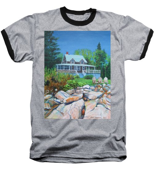 Maine Cottage Baseball T-Shirt