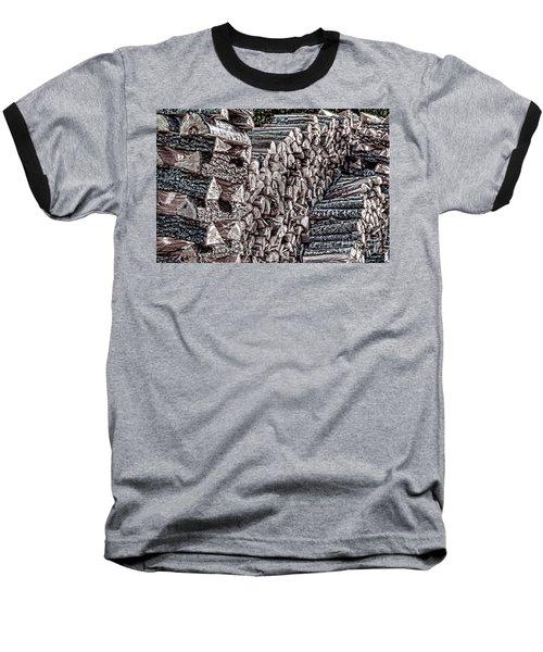 Maine Firewood Baseball T-Shirt