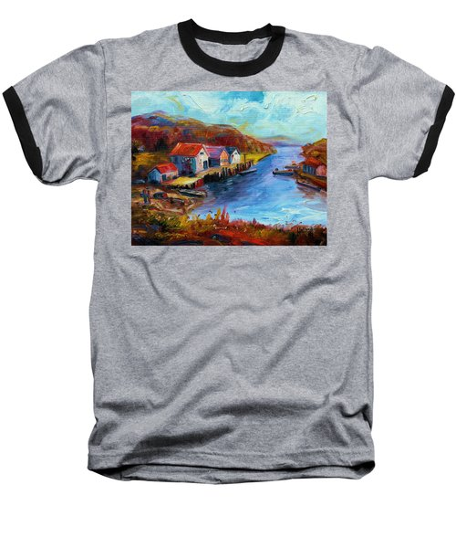 Maine Harbor Baseball T-Shirt