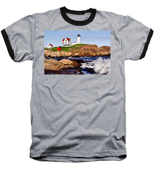 Maine's Nubble Light Baseball T-Shirt
