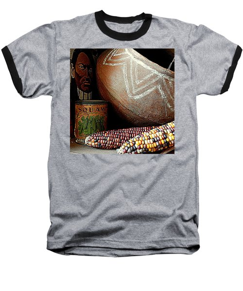 Pottery And Maize Indian Corn Still Life In New Orleans Louisiana Baseball T-Shirt