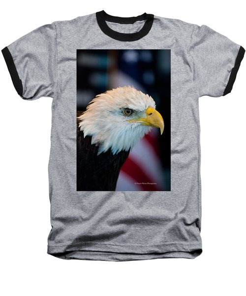 Majestic Bald Eagle Baseball T-Shirt