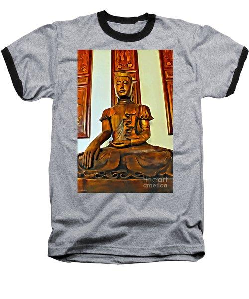 Majestic Buddha Baseball T-Shirt