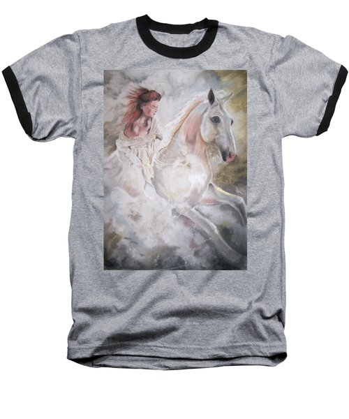 Baseball T-Shirt featuring the pastel Majestic Flow by Peter Suhocke