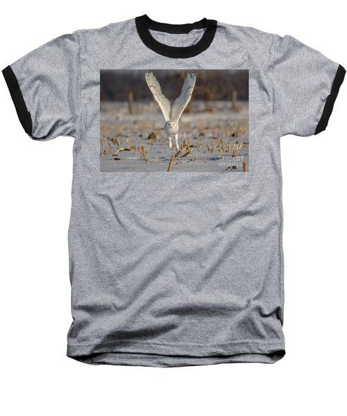 Majestic Snowy Baseball T-Shirt